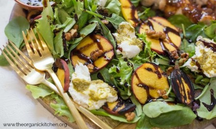 Grilled Peach and Burrata Salad