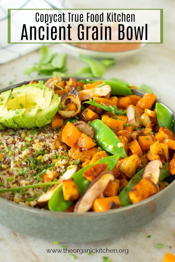 Copycat True Food Kitchen Ancient Grain Bowl! #ancientgrainsbowl #vegetariandinnerbowl #truefoodkitchen #quinoabowl