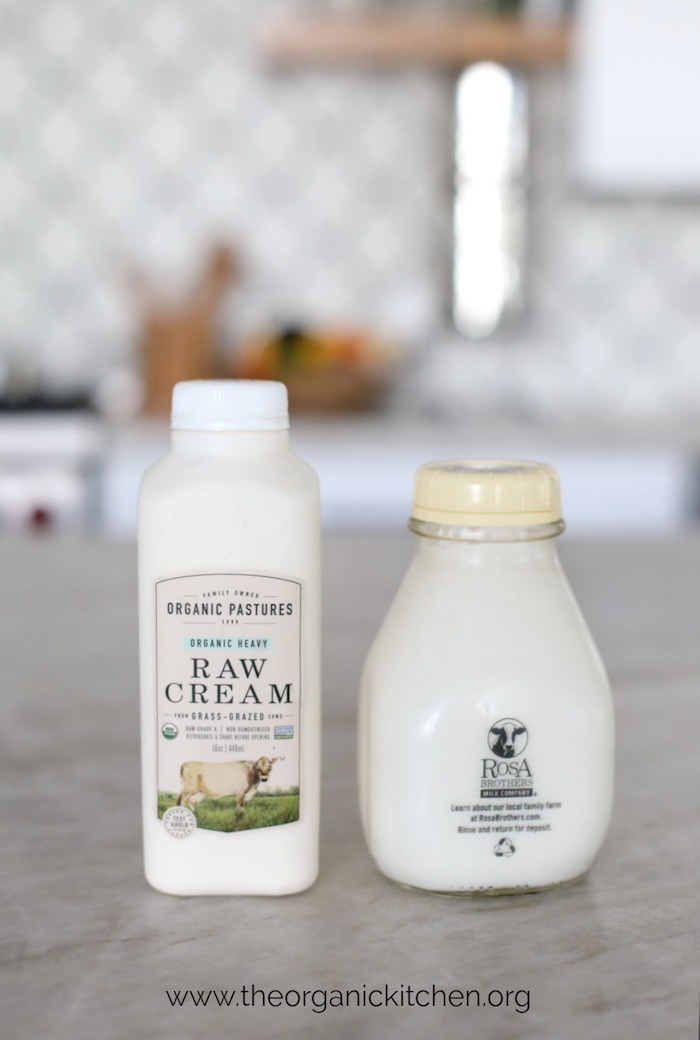 Two containers of cream: How to Make Raw or Pasteurized Butter