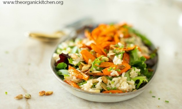 Roasted Carrot and Brown Rice Salad!