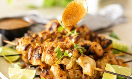 Chicken Satay with Sweet and Spicy Sauce!