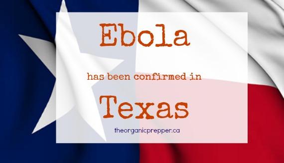 Ebola confirmed in Texas
