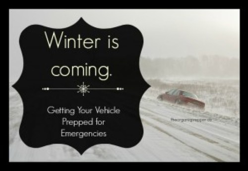 Winter is coming. Prep your vehicle for emergencies.