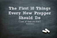 The First 10 Things Every New Prepper Should Do