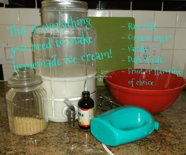 How to make homemade ice cream with a mixer the organic prepper ice cream ingredients ccuart Choice Image