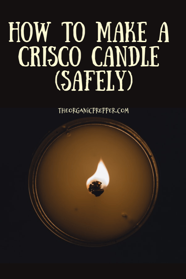 Want an inexpensive method for emergency lighting that you can make with the kids? Make a Crisco candle! Here\'s how to do it safely!