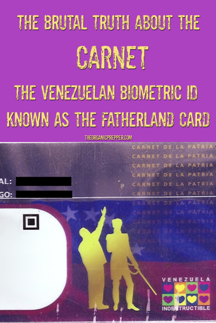 The Carnet is the biometric ID used in Venezuela, also known as the Fatherland Card. It\'s necessary to buy food, obtain healthcare, vote, and survive.