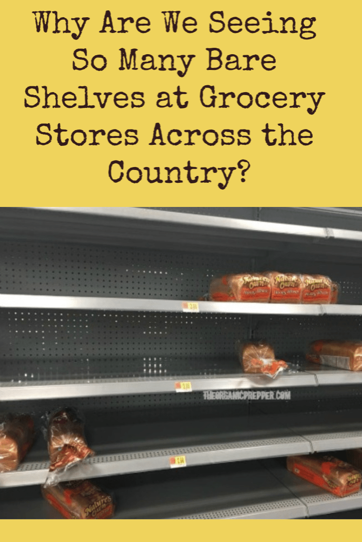 Have you noticed empty shelves at your local stores even when isn't a storm on the horizon? If so, you're not alone. Here's what you need to know.