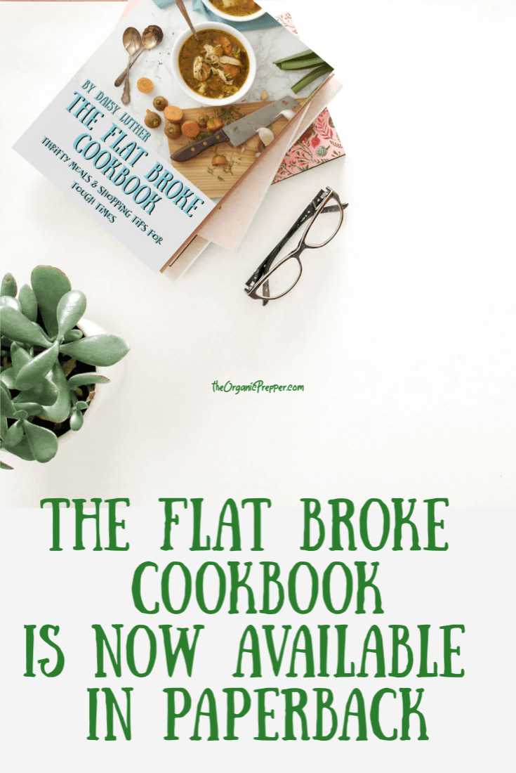 The PDF version of The Flat Broke Cookbook was so popular that now we\'re offering it in a paperback version.  Here\'s how to get it. - The Organic Prepper