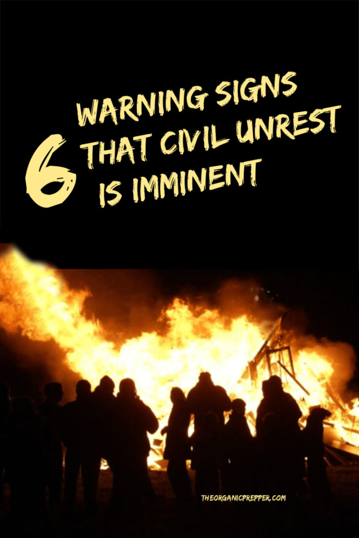 Civilian turmoil can happen so suddenly that the only option you will have is to bug in. Here\'s how to recognize signs of impending civil disorder.