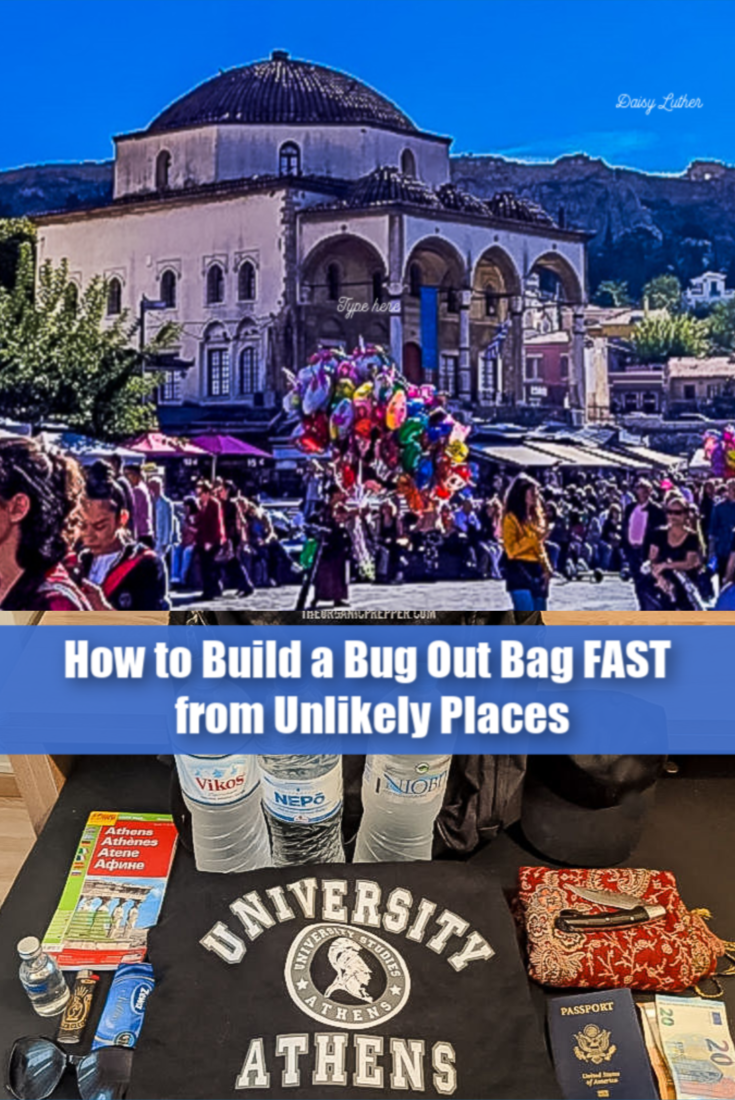What would you do if you were out, the SHTF, and you didn\'t have an emergency kit with you? Here\'s how to build a bug-out bag FAST from unlikely places. | The Organic Prepper