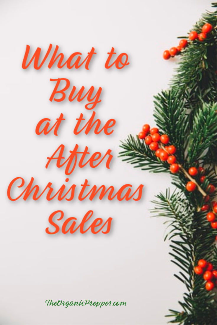 Want to add to your prepper stockpile, save some money through the year, and put things back for the next holiday season? Hit the post-Christmas sales. | The Organic Prepper