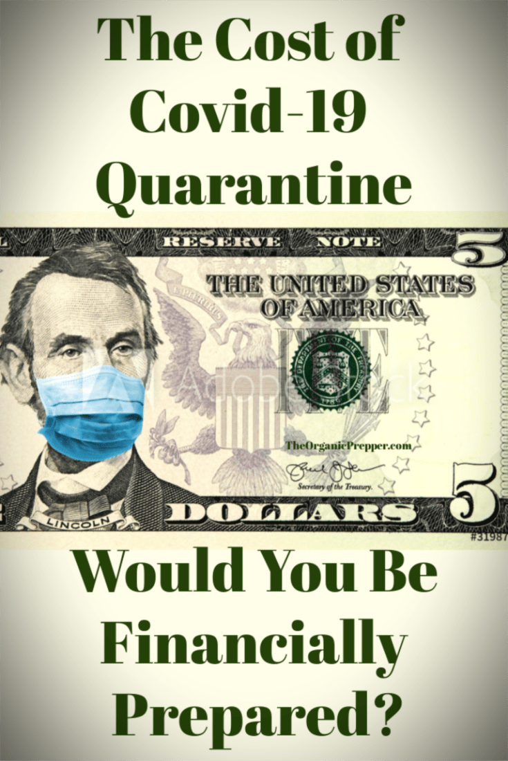 As the coronavirus spreads across the globe, so too are serious economic concerns. Would you be financially prepared for a Covid-19 quarantine? And for how long? Here are some tips to help you get prepared for a lockdown scenario with no money coming in. | The Organic Prepper
