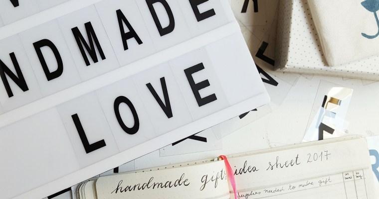 Handmade Gift Planning in Your Bullet Journal