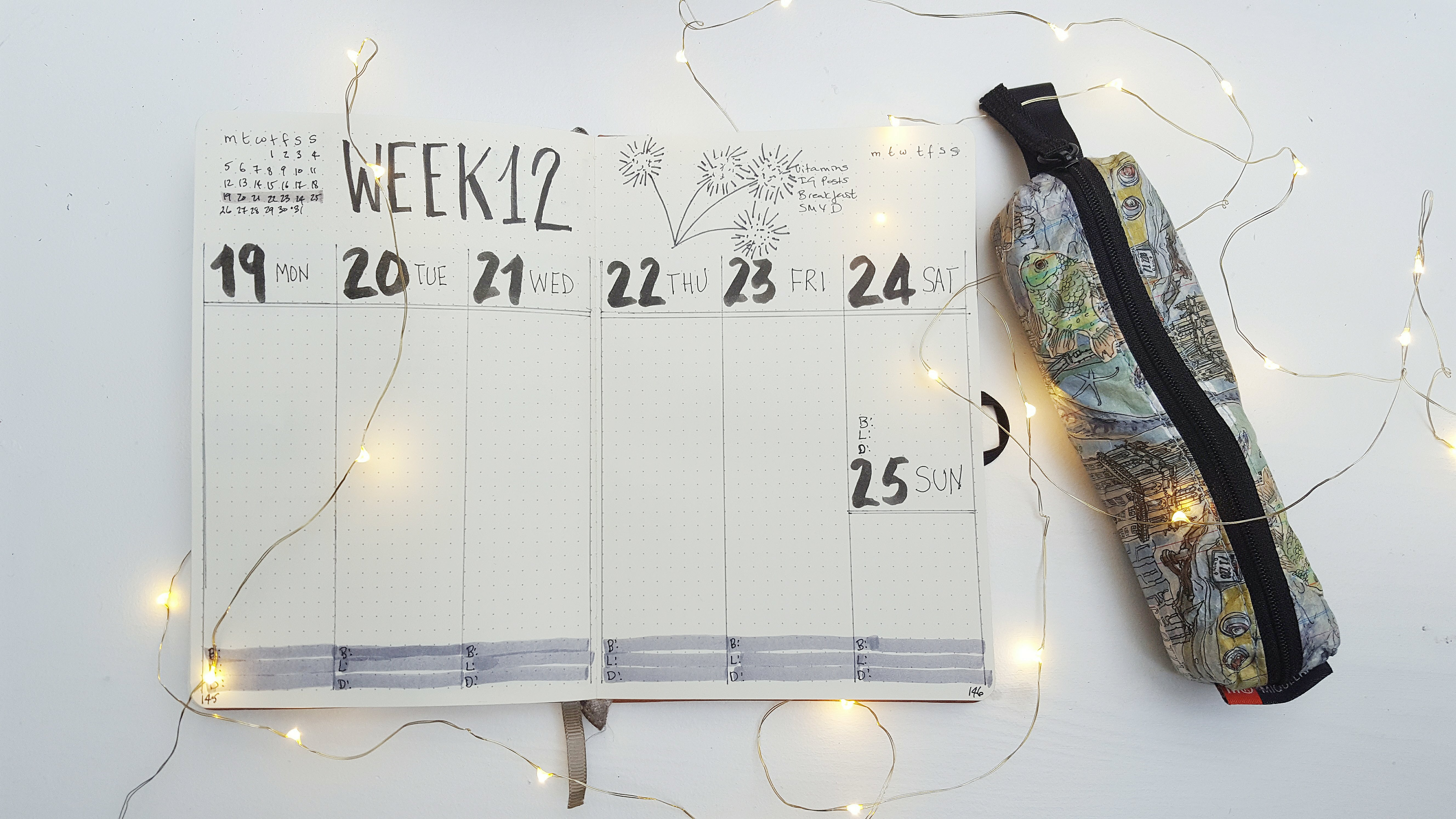 Week 12 in My Bullet Journal