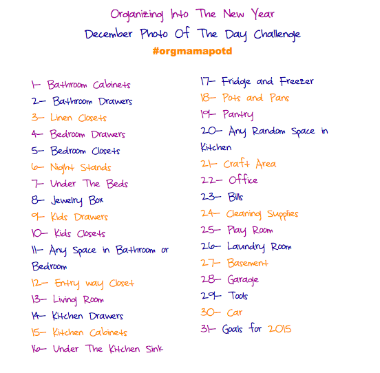 Instagram Picture Of The Day Organizing Challenge