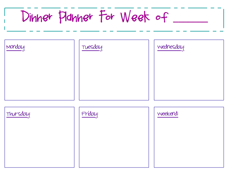 Keeping Dinners Organized: My Meal Planning Printable