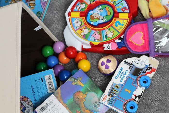 Organizing Toys In Main Living Room - Toys In Bedroom Bin