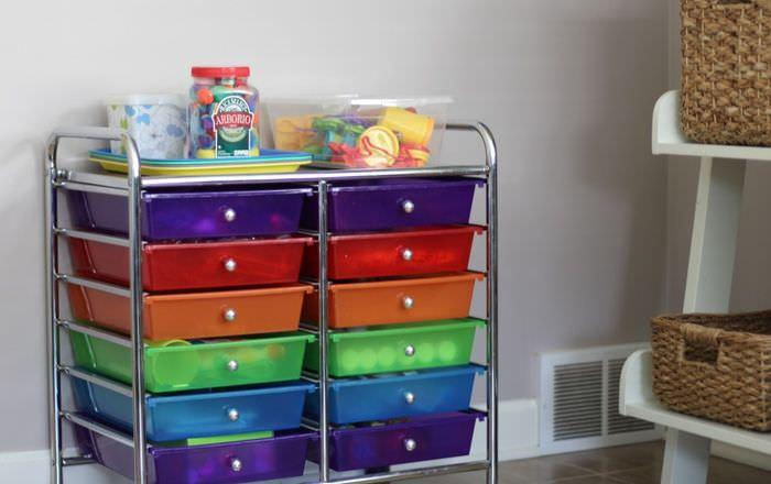Organizing The Office And Craft Room - Kids Craft Cart