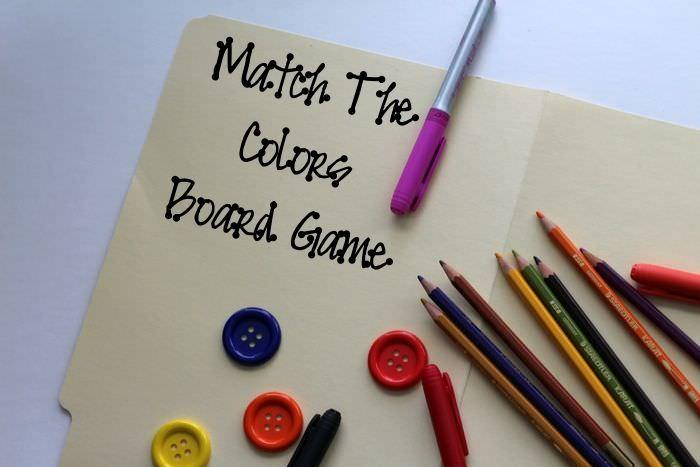 Kid Games: Match The Colors Board Game