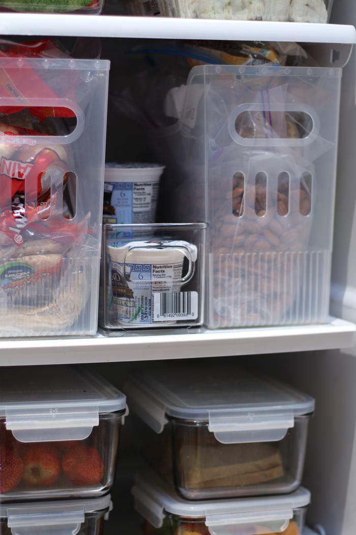 Fridge And Freezer Organization - Bins In Fridge