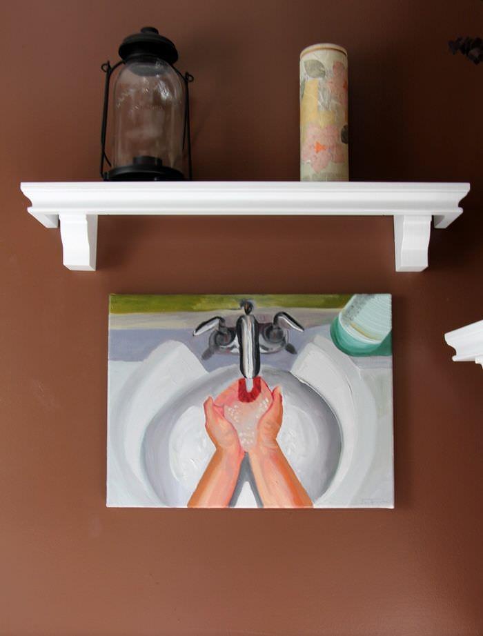 Powder Room - Washing Hands Canvas