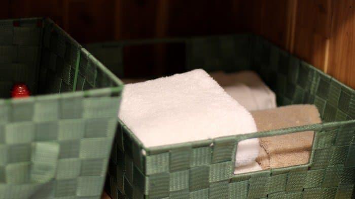Linen Closet Organization - Hand Towels