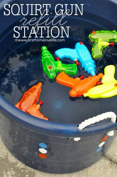 Fourth Of July Ideas - Squirt Gun Refill Station