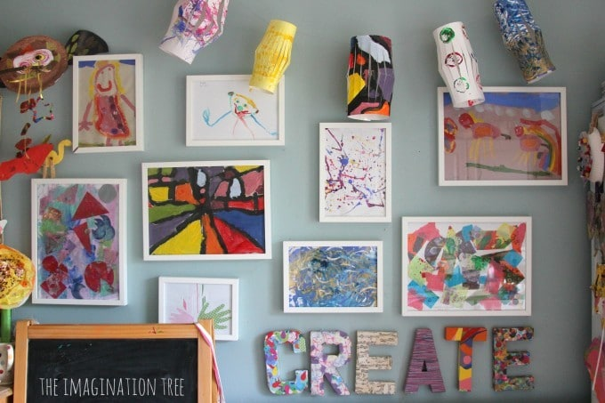 Creating An Art Area For Young Kids - Art Gallery Wall