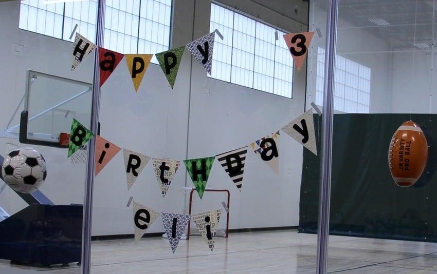 Sports-Rocker Themed Birthday Party - Birthday Banner