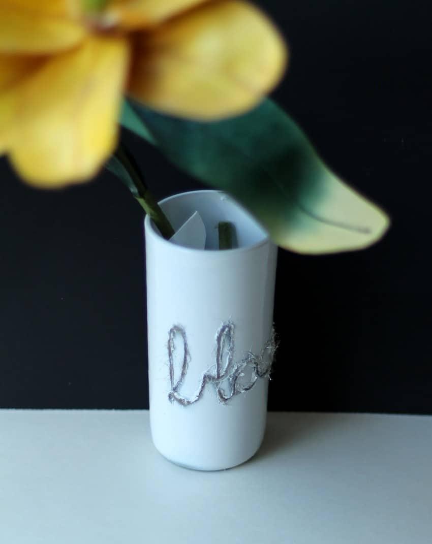 Crafting Up Repurposed Vases Using Twine - Bloom Vase