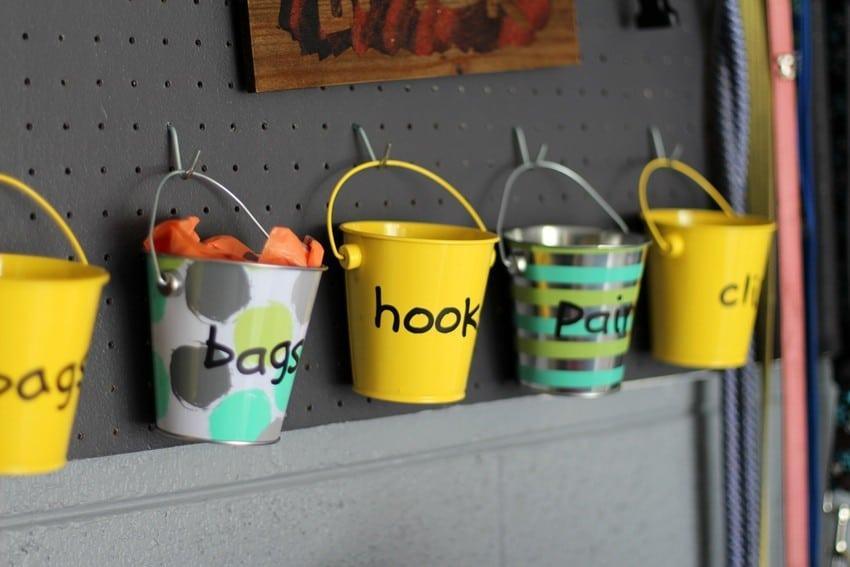 Organizing the Garage - Buckets