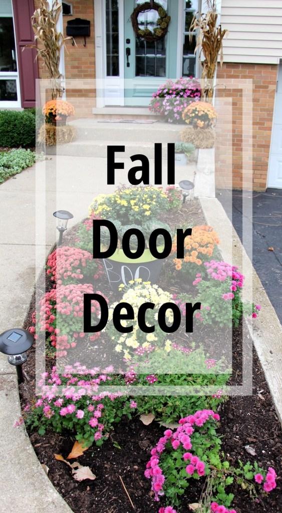 Fall Door Decor - The Organized Mama