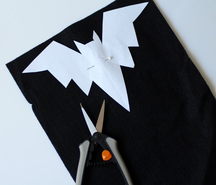 Halloween Craft Tutorial Bat Mobile - Bat Printable On Felt