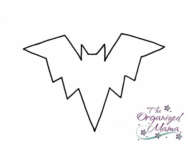 Halloween Craft Tutorial Bat Mobile - Bat Template