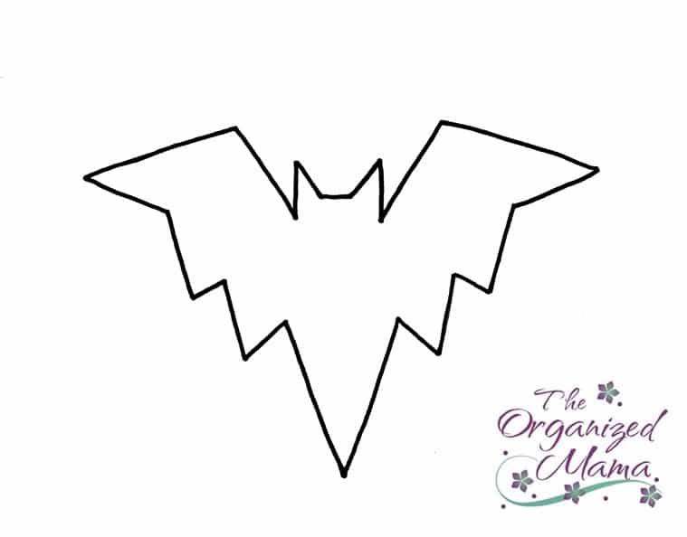 Halloween Craft Tutorial Bat Mobile - Bat Template