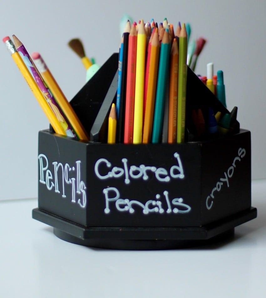 Kids Art Room Ideas - Coloring Caddie