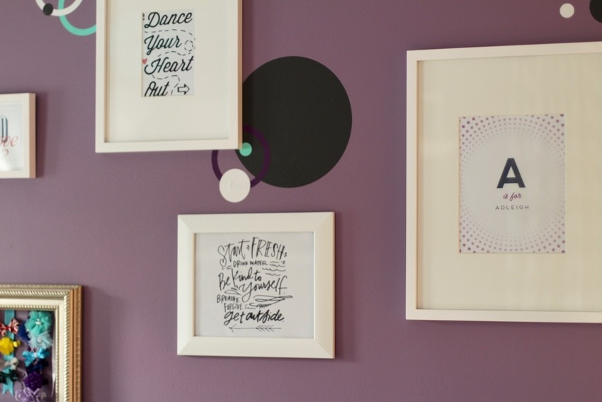 Creating A Gallery Wall - Girl Gallery Wall