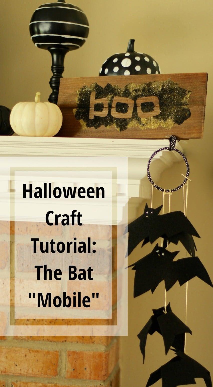Halloween Craft Tutorial Bat Mobile