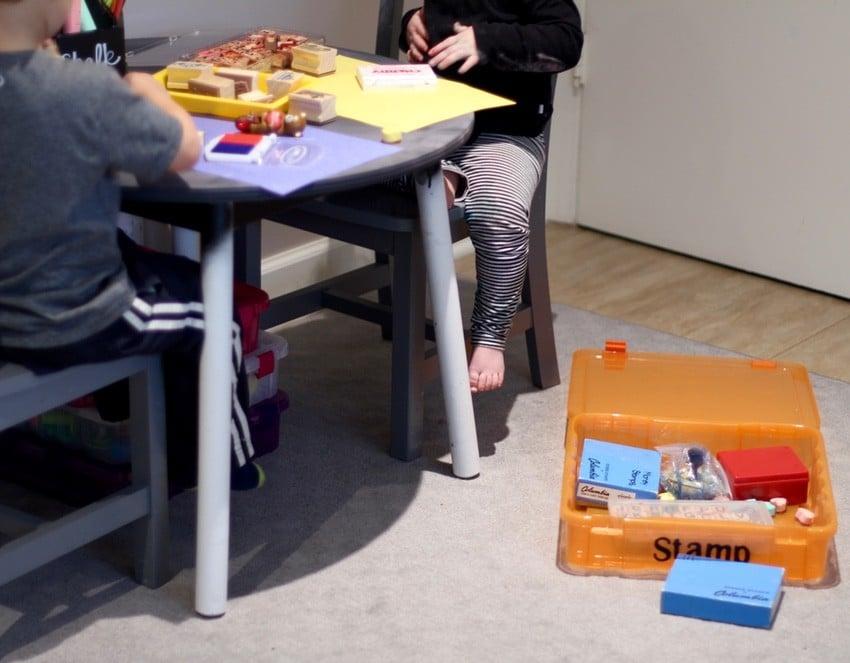 Kids Art Room Ideas - Stamping