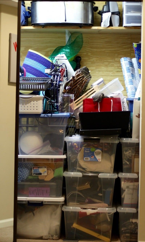 How To Organize A Storage Closet - Before Closet