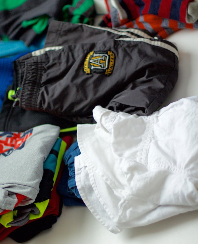 Boys Clothes Packing