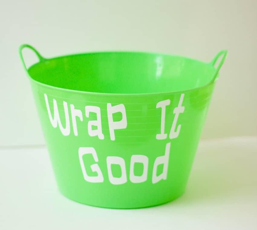 Gift Wrapping Bucket