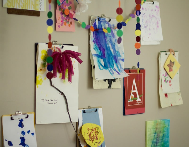 Clipboard Wall To Store Artwork