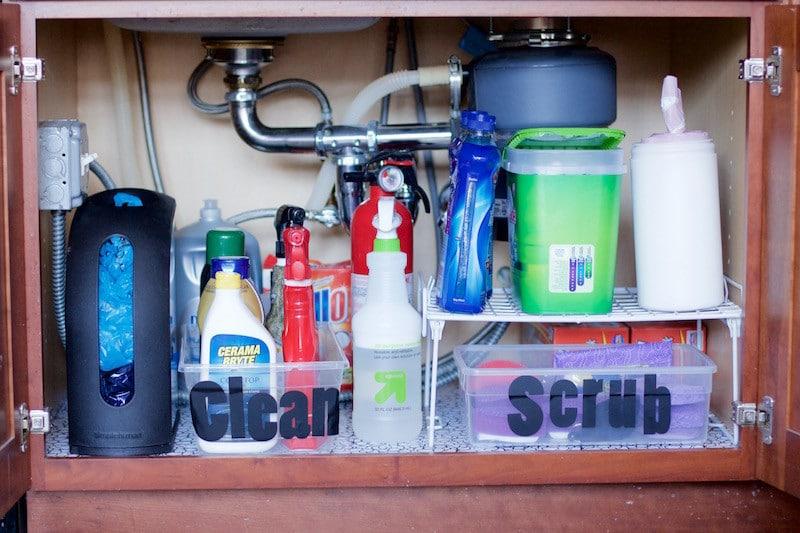 How To Declutter Under Kitchen Sink
