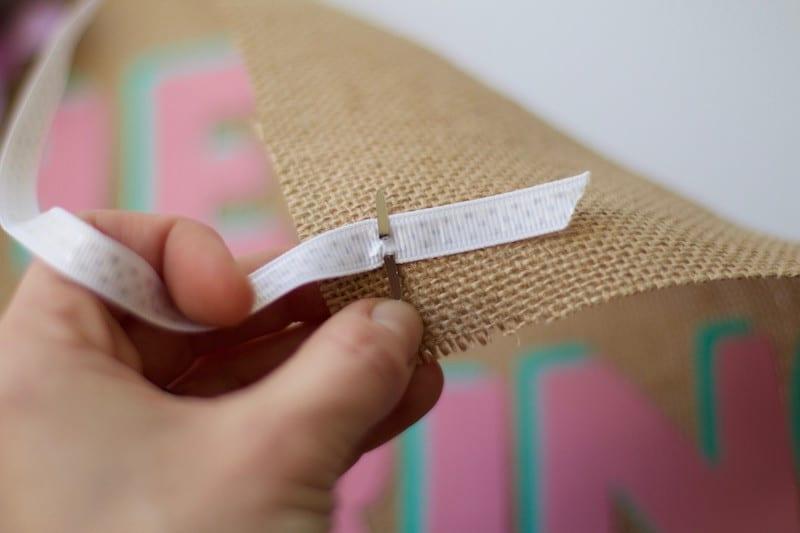 Attaching Ribbon