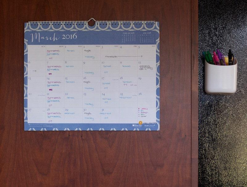 calendar in command center ideas