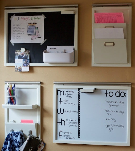 setting up a command center so all family can use with space for activities, meal planning, project planing, and files #commandcenter #organized