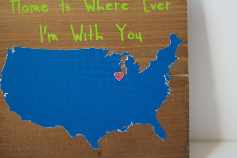 Home Is Where Ever I'm With You Light-Up Sign