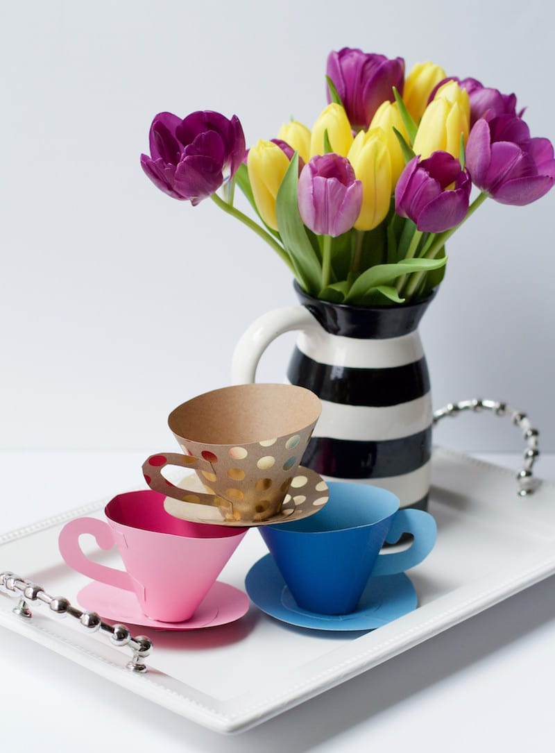 Tray With Tea Cups
